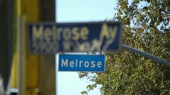 Melrose Avenue 04 HD Stock Footage