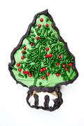 tree christmas cookie - stock photo