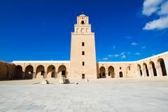 Great mosque of kairouan (mosque of uqba) Stock Photos