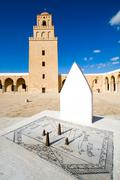 sundial of great mosque in kairouan - stock photo