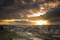 Jerusalem sunset Stock Photos