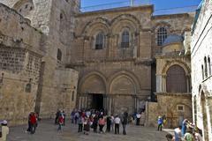 Jerusalem Church of the Holy Sepulchre - stock photo