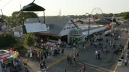 Stock Video Footage of Stock Footage - Iowa State Fair - HD1080p - Skyride day - couple taking photo
