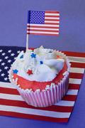 Election day cupcake Stock Photos