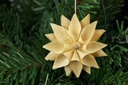 Straw star ornament Stock Photos