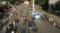 Stock Footage - Iowa State Fair - HD1080p - Moving camera shot of park - shadows - stock footage