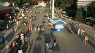 Stock Video Footage of Stock Footage - Iowa State Fair - HD1080p - Moving camera shot of park - shadows