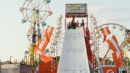 Stock Video Footage of Stock Footage - Iowa State Fair - HD1080p - Kids sliding on large slide
