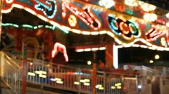 Stock Footage - Iowa State Fair - HD1080p - Ambient shot of lights on ride Stock Footage
