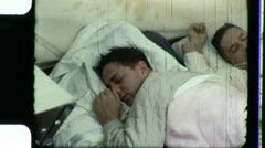 MEN SLEEPING in Bed Fast Alseep Sleepy Sleep 1950s Vintage Film Home Movie 3191b Stock Footage