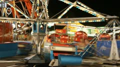 Stock Footage - Iowa State Fair - HD1080p - Fast moving ride with lights - stock footage