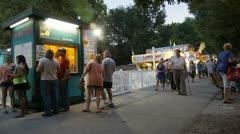 Stock Footage - Iowa State Fair - HD1080p - Poeple walking at night Stock Footage