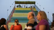 Stock Video Footage of Stock Footage - Iowa State Fair - HD1080p - BIG SLIDE - Kids slide down