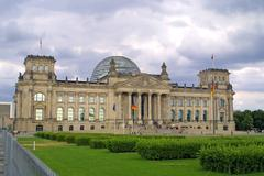 The reichstag building - stock photo