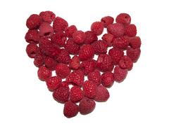 Raspberry Heart Stock Photos