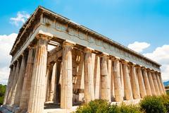 Greece temple to the gods Stock Photos
