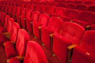 Red theater seats Stock Photos