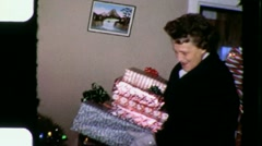 Welcome Dinner Guests Arrive Christmas Day 1960s Vintage Film Home Movie 3311 Stock Footage