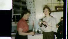 Young Girls Drinking COKE A COLA Soda Pop 1950s Vintage Film Home Movie 3313 Stock Footage