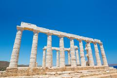 Stock Photo of ancient temple greek ruins acropolis