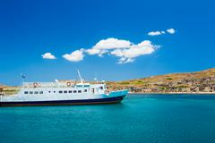 Stock Photo of boat in greek islands