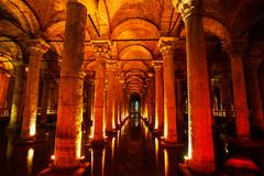Stock Photo of basilica cistern