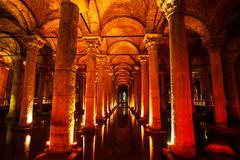 Basilica cistern Stock Photos