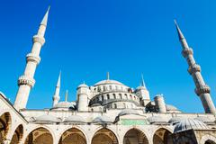 beautiful blue mosque - stock photo