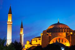 Mosque at sunset Stock Photos
