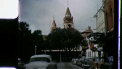 STREET SCENE St. Augustine Florida 1960s Vintage Retro Film Home Movie 3318 Stock Footage