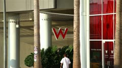 W Hotel Hollywood 01 HD Stock Footage