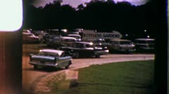 Cars Traffic in PARKING LOT Florida Vacation 1950s Vintage Film Home Movie 3320 Stock Footage