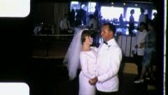 FIRST DANCE Bride Groom Wedding Dancing Party 1960s Vintage Film Home Movie 3329 Stock Footage