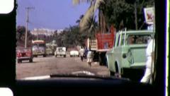 MEXICO STREET SCENE Latin America Border 1970s Vintage Film Home Movie 3337 Stock Footage