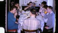 Stock Video Footage of FAMILY Meal Reunion CHRISTMAS THANKSGIVING 1960s (Vintage Film Home Movie) 3339