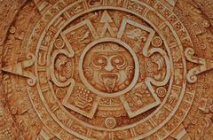 mayan god calendar - stock photo