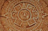Stock Photo of mayan god calendar