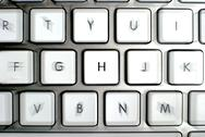 Modern aluminum keyboard Stock Photos