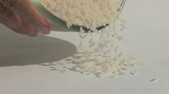 Grains of rice Stock Footage