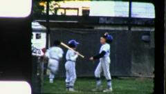 BATTER SWINGS BASEBALL LITTLE LEAGUE 1960s Vintage Film 8mm Home Movie 3362 Stock Footage