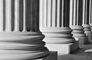 Pillars of law and information at the united states supreme court Stock Photos
