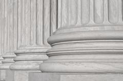 Pillars of law and justice us supreme court Stock Photos