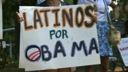 Stock Video Footage of Latino support for Obama in 2012