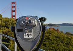 golden gate bridge viewfinder - stock photo