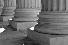 pillars of law and justice united states supreme court - stock photo