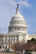 washington dc united states capitol in winter - stock photo