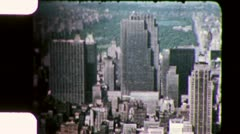CENTRAL PARK from Observation Deck Rockefeller 1950 Vintage Film Home Movie 3385 Stock Footage