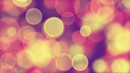 Stock Video Footage of delicate pink yellow circle bokeh lights loop background