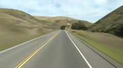 South Bodega Bay to Petaluma POV TL 1 of 4 Stock Footage