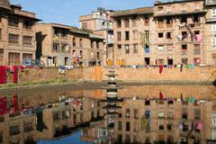 Nepal urban scene Stock Photos